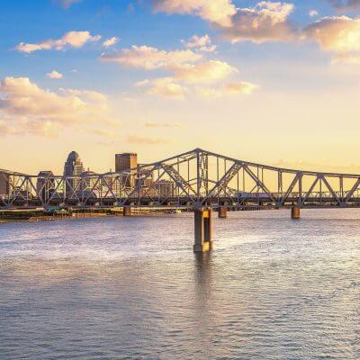 Louisville Skyline | Bridge | Belle of Louisville | Ohio River | Steamboat