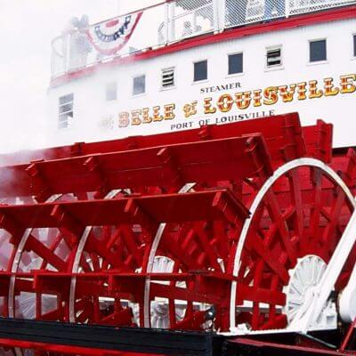 Belle of Louisville | Rear View | Red Paddle Wheel | Steamboat